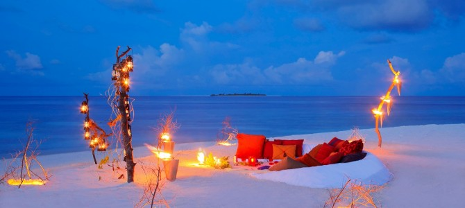Dine and Wine at the Beach in the Maldives
